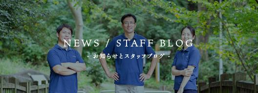お知らせとスタッフブログ